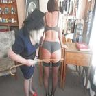 headmistress punishes  naughty  girl